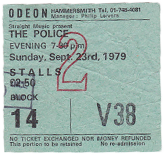 #JohnDHastings #Singer #Songwriter #My first memorable gig in London - The Police 1979